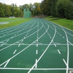 Secondary School Athletics Surface Installation in Alltmawr 6