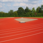 Secondary School Athletics Surface Installation in Alltmawr 1
