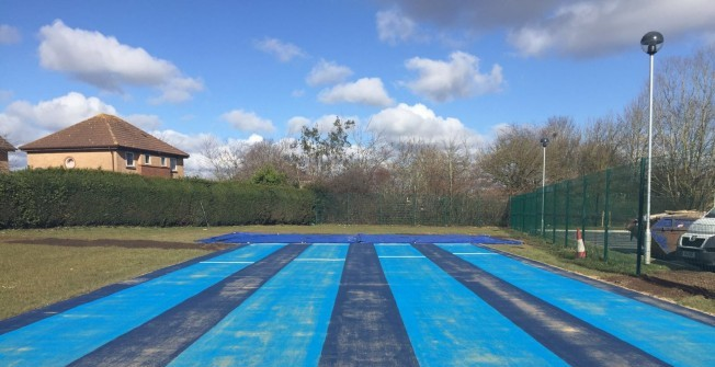 Long Jump Track Surface in Newtownabbey